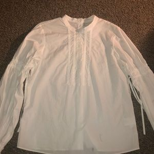TIE SLEEVE BUTTON BACK BLOUSE